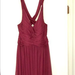 David's bridal bridesmaid dress (wine color)